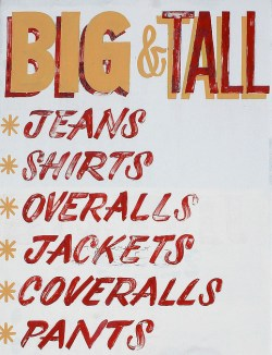 Big and Tall Clothing Sign
