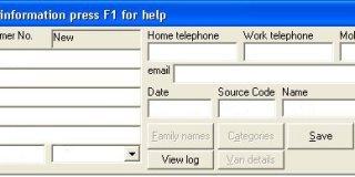 Customer Data Screen