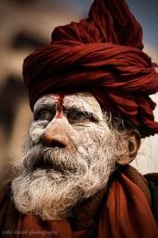 ash smeared sadhu