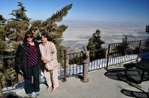 Karen and mom at the overlook of the Palm Springs Aerial Tram.