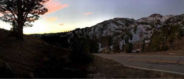 Another view of the sunrise from Sonora Pass.