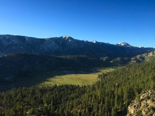 Looking out to the West Walker River from the Leavitt Falls overlook.
