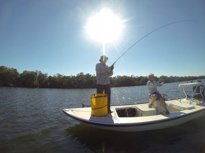 Fly fishing on Sanibel Island Florida