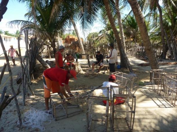 Preparing lobster traps