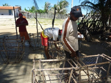 Making lobster traps