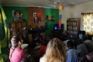 Watching a TED Talk about a boy in Malawi who made a windmill to power lights in his family's hut