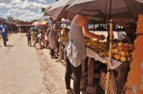 Buying produce in the market