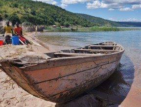 A fishing boat on Lake Tanganyika