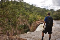 Chris at the top of Kalambo Falls