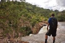Chris at the top of Kalambo Falls
