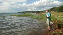 Chris and I brought spinning rods to try our luck in Lake Tanganyika