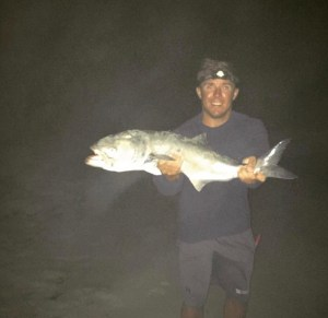 LBI surf fishing for bluefish