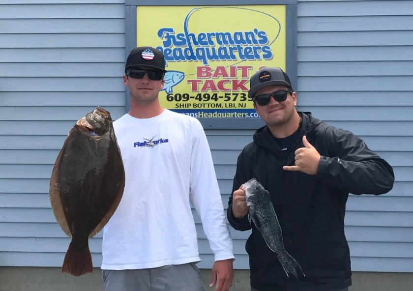 Taylor and Nick caught fluke and sea bass on the GSS reef.