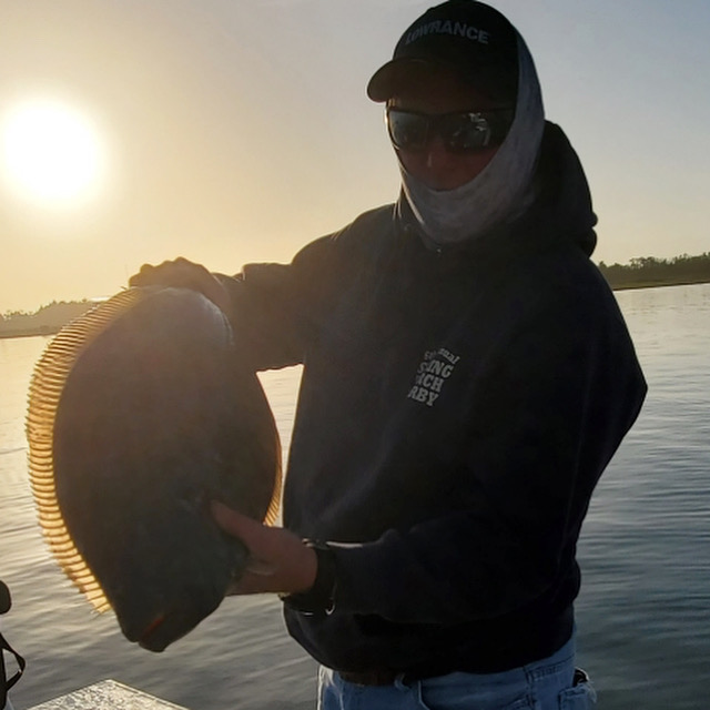 Another fluke report came in from Pete E. and Tiger M. (above) who fished one of the main channels of Barnegat Bay. They got two nice keepers.