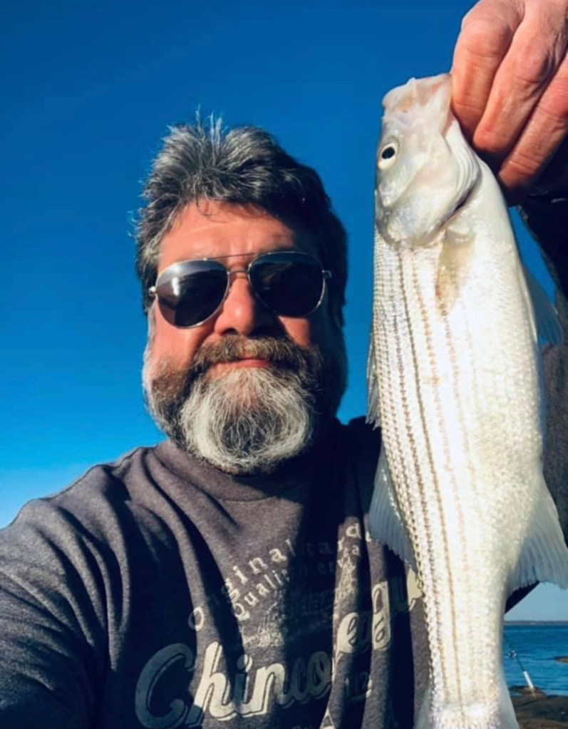 """Dave Minnick had a great day fishing Saturday,  """"Perfect morning for some back bay fishing."""""""