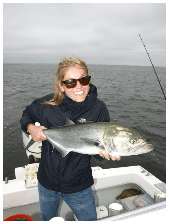 Anchoring and fishing fresh bait is a highly effective spring method for spring blues.