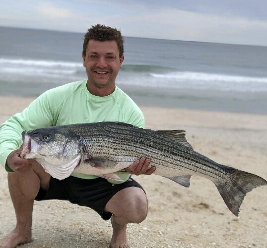 Danny Federico sent in this catch photo from this weekend on the LBI surf!