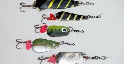 Metal trout spoons.