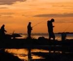 Waimakariri River salmon angler's sunrise
