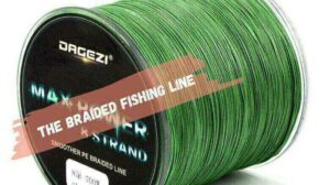 The braided fishing line