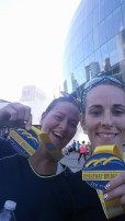 Dana Fields and Sarah Wilson earned medals for finishing the 10K