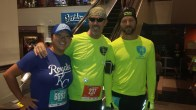 LeeJae Wansing, Don Ledford and Russell Wenz meet prior to the start of the Kansas City marathon and half-marathon.