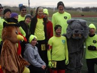 Fishing River Running Club teamed up to run the four-mile Thanksgiving Turkey Trot in Kearney, MO