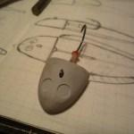 舌平目ルアーのヘッド部原型製作が完了しました。