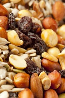 Trail mix is packed with nutrients and energy—sometimes you won't even be hungry after a day on the water snacking on trail mix.