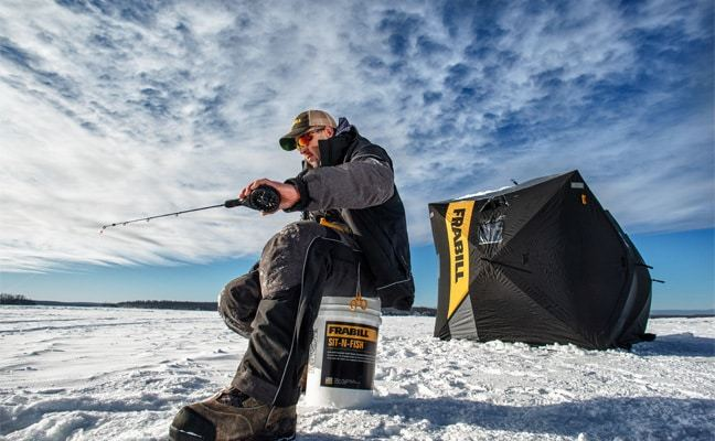 Frabill says their new i 5 suit renders winter irrelevant for Frabill ice fishing suit