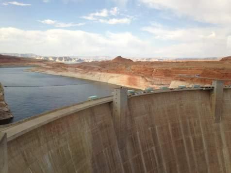 Glen Canyon Dam created Lake Powell in 1963