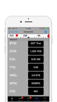 iNavX Screenshot Instruments HR PRG