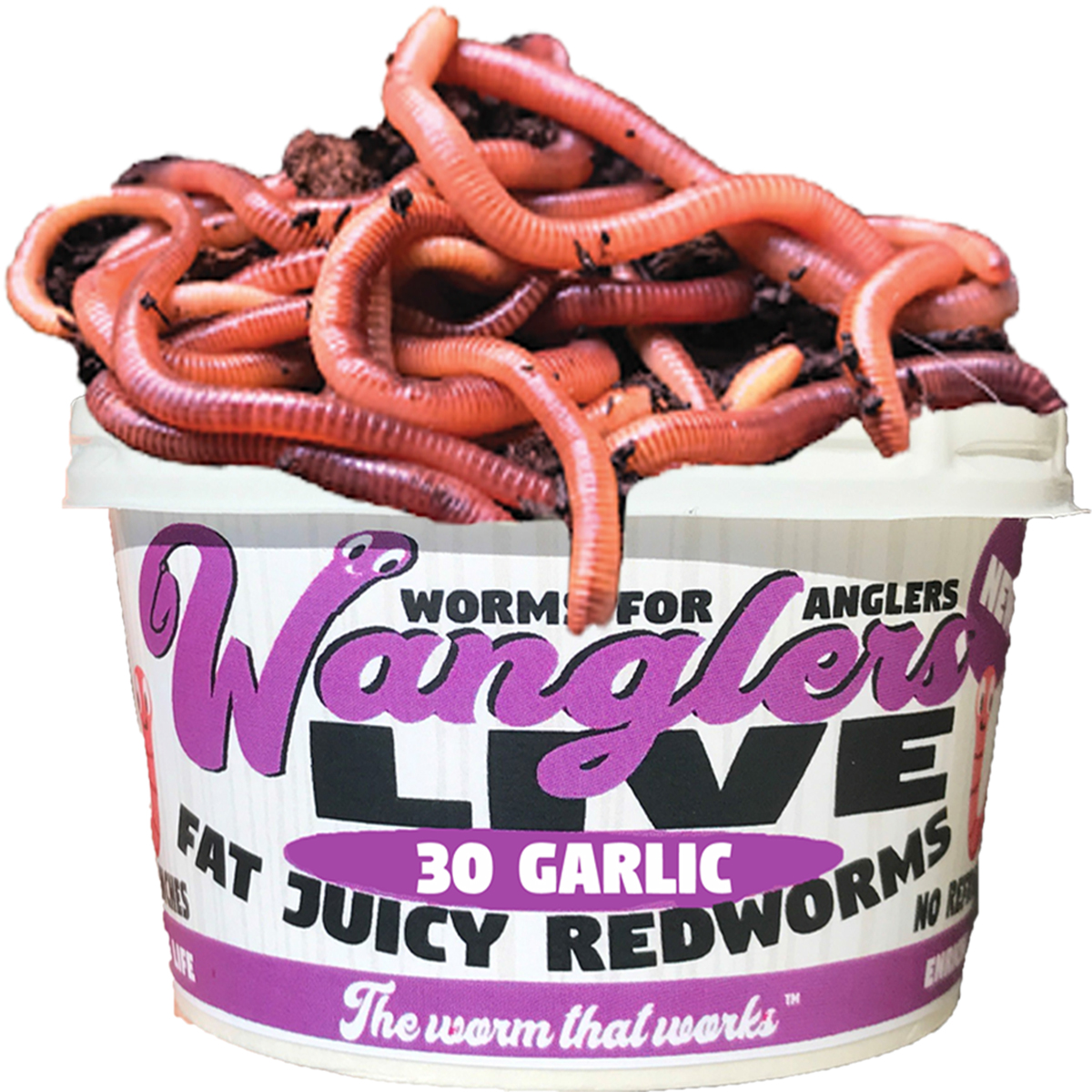 Wanglers Live Red Worm Garlic Scent