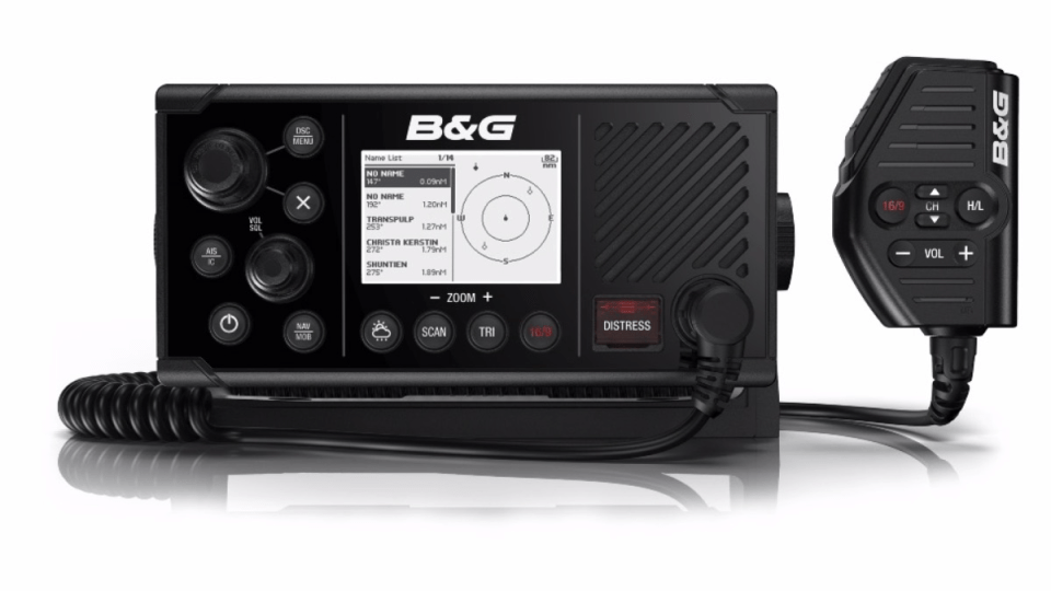 B&G Debuts the First VHF Radio with AIS Transmit/Receive Capability