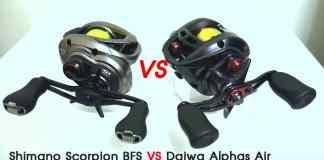 SHIMANO SCORPION BFS VS DAIWA ALPHAS AIR