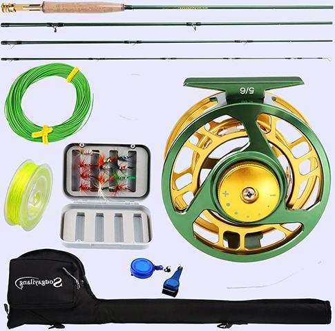 Sougayilang Fly Fishing Rod Reel Combos