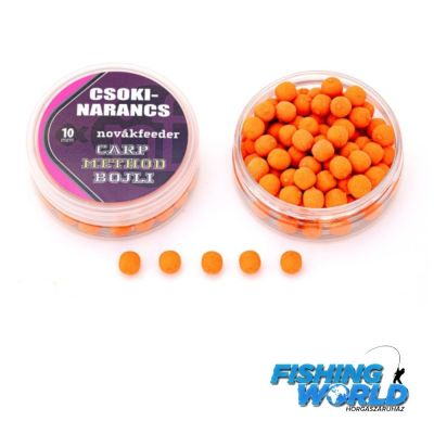 Novák Feeder Carp Method Bojli 10mm csoki-narancs