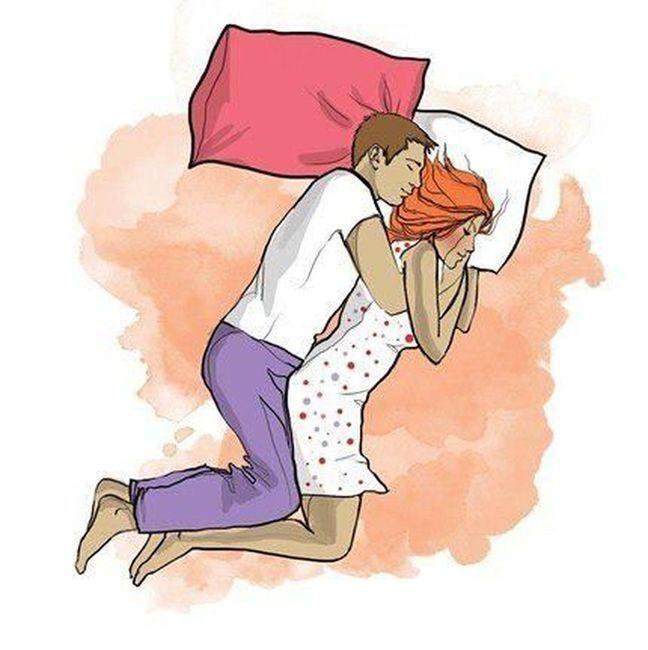 О чем говорят ночные позы во время сна (10 фото)