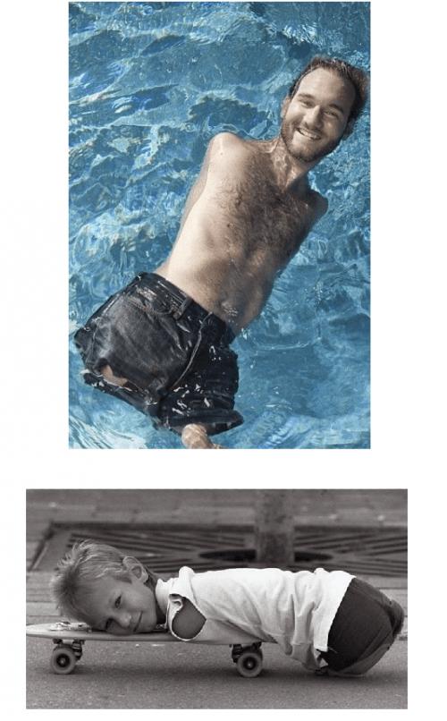 люди без рук и ног фото морская вода