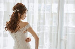 白紗造型 浪漫唯美長髮造型 Bonnie