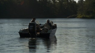 Angelo and Steve heading out for some French River Bass.
