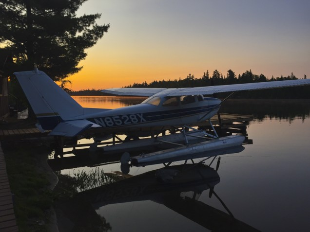 A typical evening Algoma scene at Loch Island Lodge.