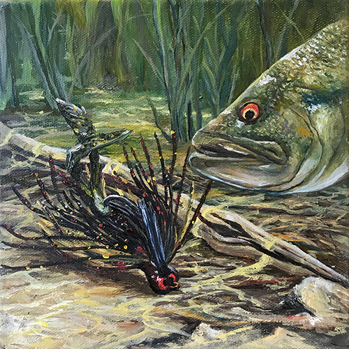 David Walker Z Jig fishing art