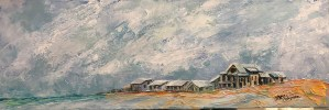 painting of the 30a beach from camp helen in florida