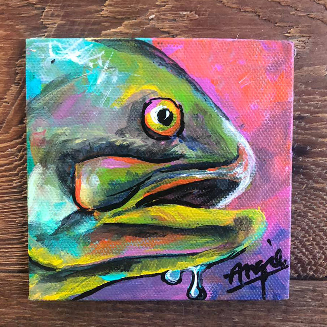Painting of fish head