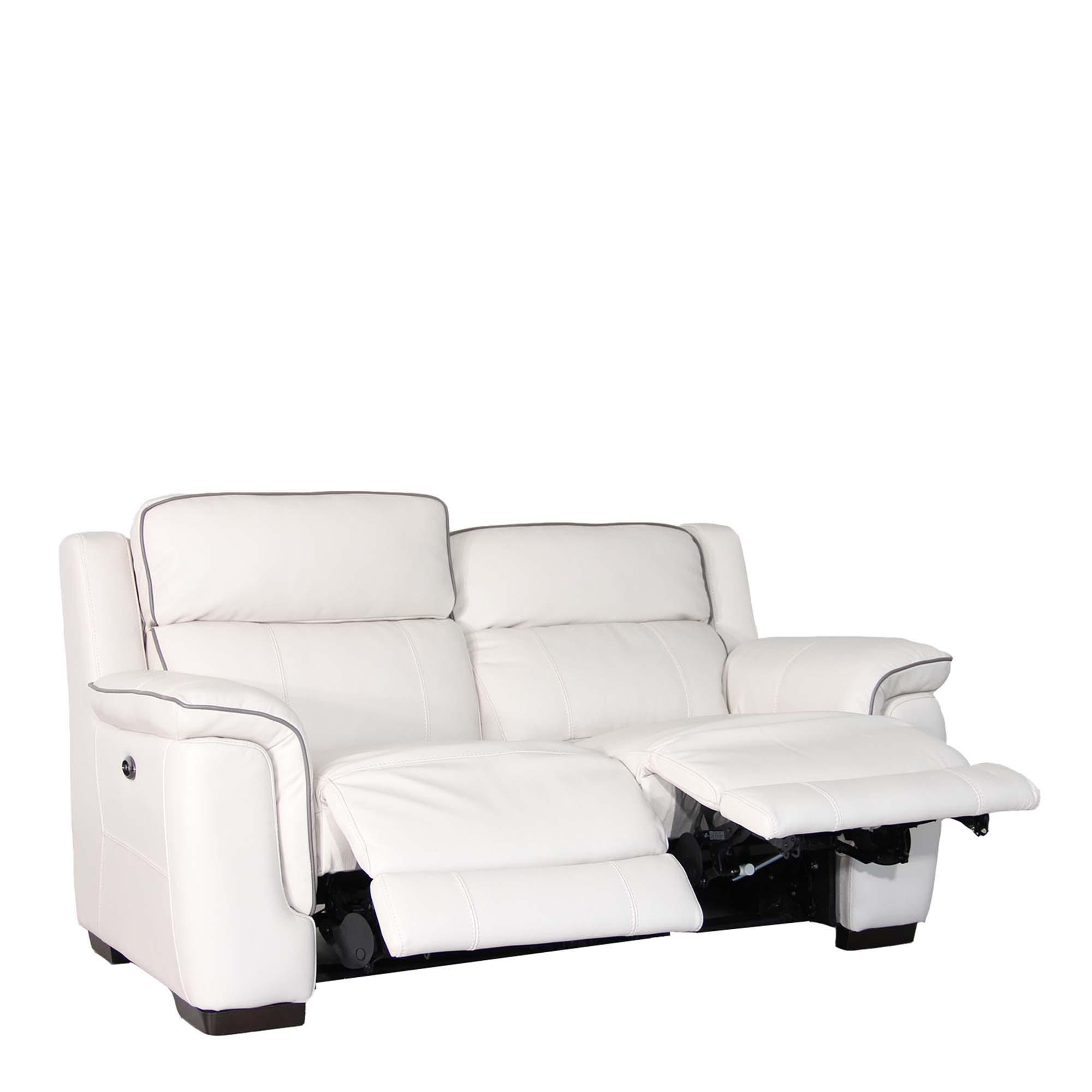 Double Recliner Chair Monza Leather 2 5 Seat Compact Sofa With Double Power Recliner