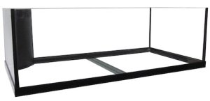 75 gallon regular reef ready framed aquarium with plumbing kit