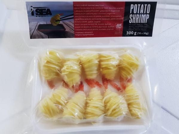 Creveti in cuib de cartofi 300g