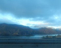 Driving by Pyramid Lake in the Tehachapis.