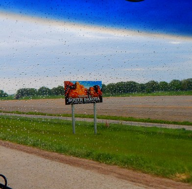 Welcome to South Dakota on a rainy morning.